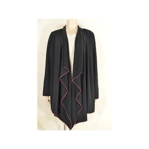 Fresh Produce coat XXL black fleece asymmetrical r